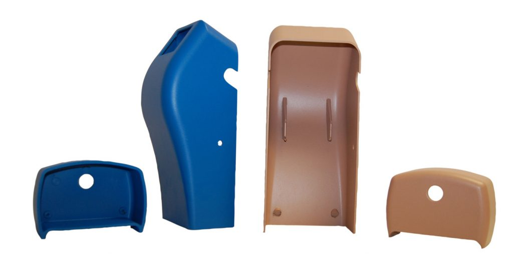different plastic parts from injection molding