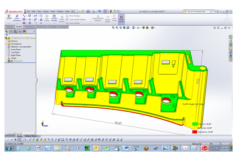 designing a part from injection molding