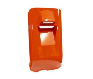orange polyurethane reaction injection molding part